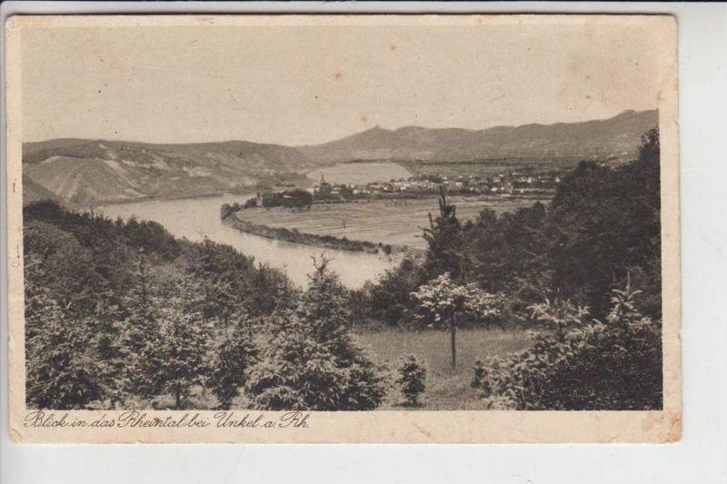 5463 UNKEL, Ortsansicht, 30er Jahre, Briefmarke fehlt