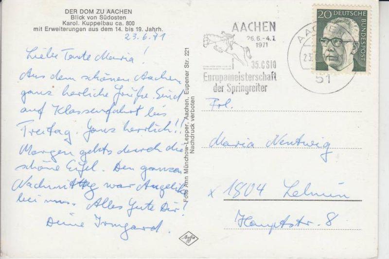 SPORT - REITSPORT - Aachen Europameisterschaft der Springreiter - Sonderstempel 1971