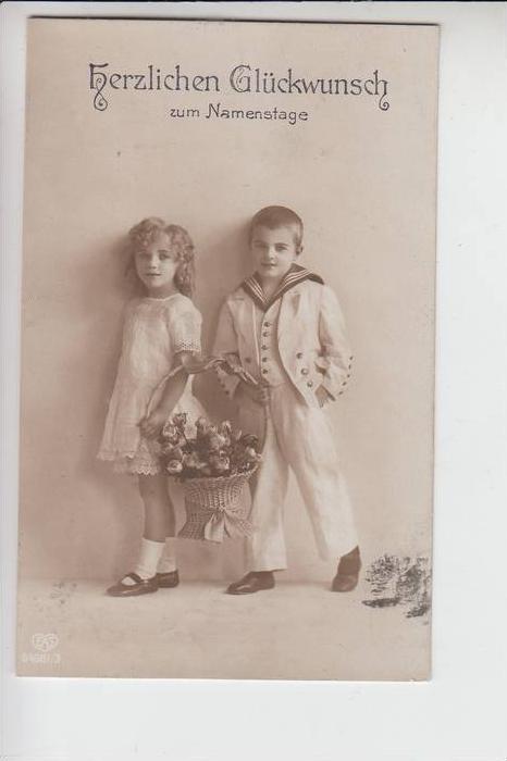 KINDER - Glückwunsch zum Namenstage 1913