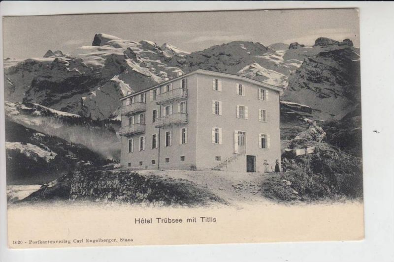 CH 6390 ENGELBERG, Hotel Trübsee mit Titlis, frühe Karte-ungeteilte Rückseite