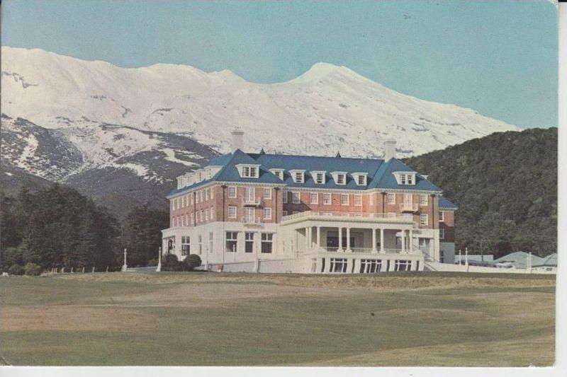 NZ - Chateau Tongariro, Mount Puapehu 1964, stamp missing