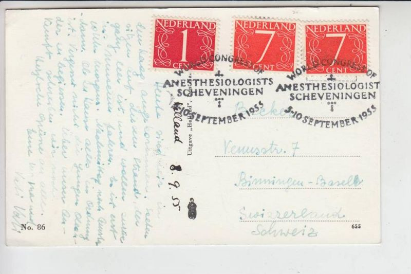 MEDIZIN - SONDERSTEMPEL - Anesthesiologists World Congress Scheveningen / NL 1955