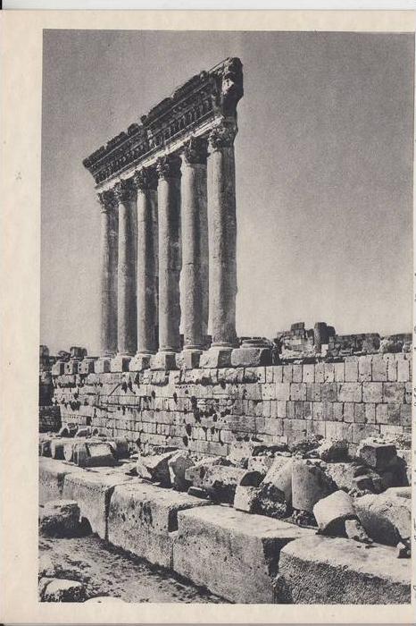 RL - LIBANON - BAALBECK, Tempelsäulen der Akropolis