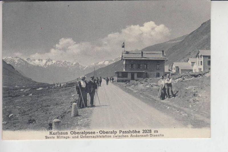 CH 6490 ANDERMATT UR - Kurhaus Oberalpsee - Oberalp Passhöhe, belebte Szene