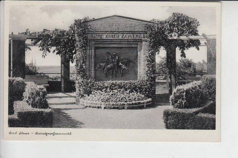 4190 KLEVE, Kriegerdenkmal 30er - Jahre, Briefmarke fehlt