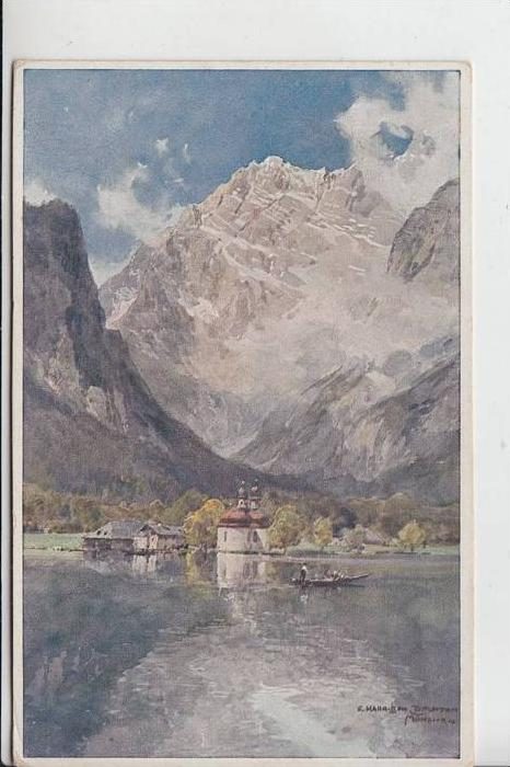KÜNSTLER / ARTIST - COMPTON, E.Harrison, BARTHOLOMÄ - Berchtesgaden