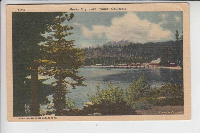 USA - CALIFORNIA, Meeks Bay, lake Tahoe 1955