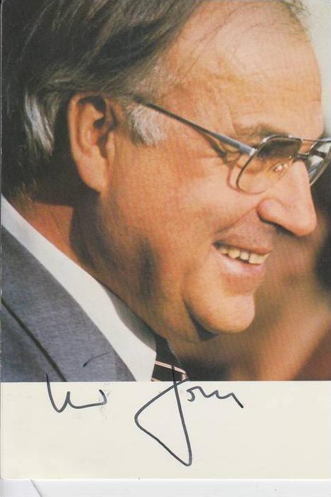 POLITIK - HELMUT KOHL - BUNDESKANZLER - Autogramm