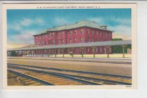 USA - NORTH CAROLINA - ROCKY MOUNT, Atlantic Coast Line Depot, Railroad Station, Bahnhof - La Gare