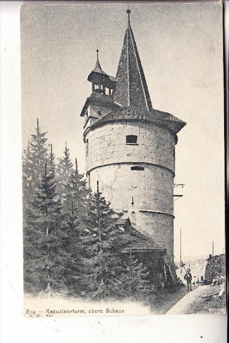 CH 6300 ZUG, Kapuzinerturm, Militärpost, 1905