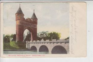 USA - CONNETICUT - HARTFORD, Soldiers Memorial Arch 1906, undivided back