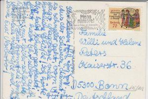 SCHWEIZ ZUMSTEIN 605 / MICHEL 1118, Einzelfrankatur nach Deutschland