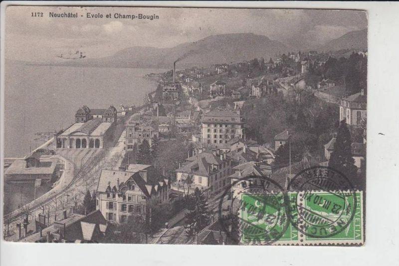 CH 2000 NEUENBURG / NEUCHATEL, Evole et Champ-Bougin 1910 nach Moskau gelaufen