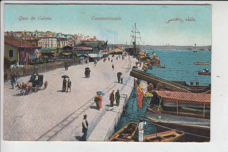 TR - KONSTANTINOPEL - Quai de Galata