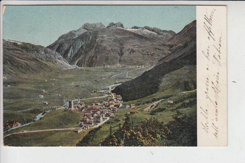 CH 6493 HOSPENTHAL, 1906, kl. Druckstelle