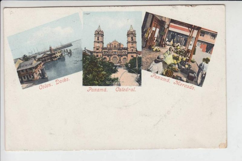 PANAMA - Colon & Panama, early card - frühe Karte, undivided back - ungeteilte Rückseite
