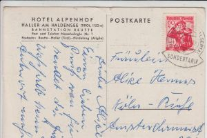 ÖSTERREICH - KLEINWALSERTAL - RIEZLERN - SONDERTARIF 1951