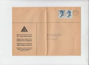 SCHWEIZ - ZUMSTEIN 108 / MICHEL 751 PRO PATRIA 1962 Mehrfachfrankatur