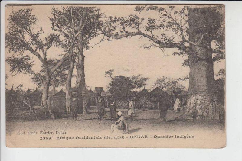 SENEGAL - DAKAR, Quartier indigene