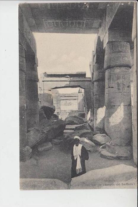 EGYPT- THEBES - L'Entree de Temple de Sethos