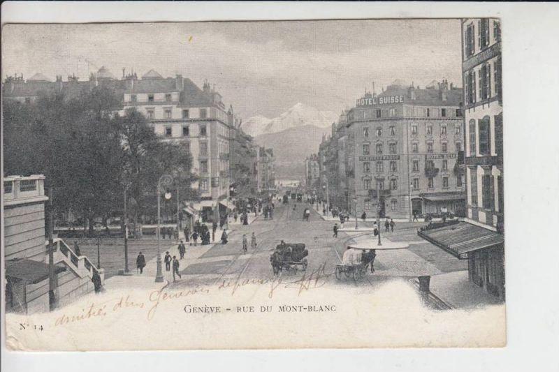 CH 1200 GENF - GENEVE, Rue du Mont-Blanc 1902