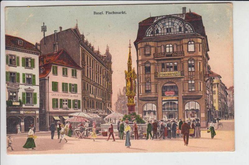 CH 4000 BASEL, Fischmarkt 1914