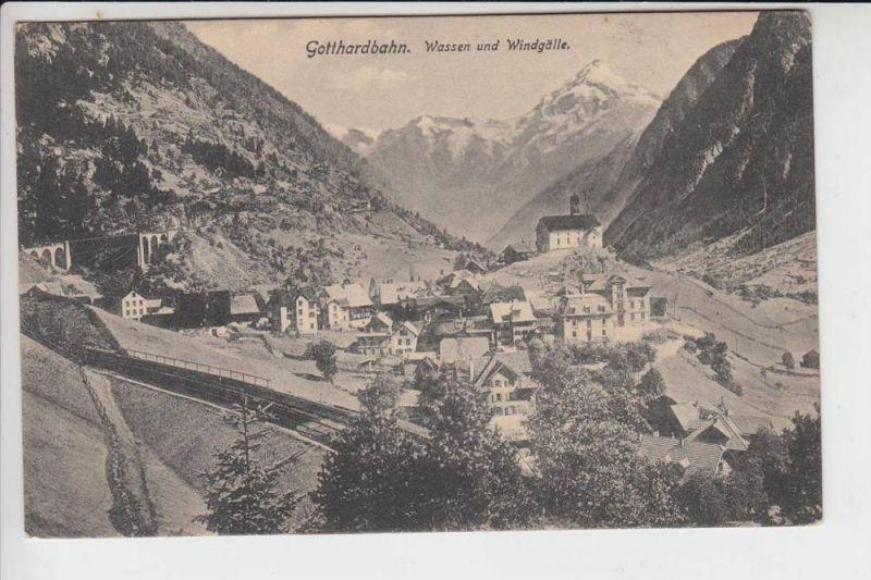 CH 6484 WASSEN & WINDGÄLLE, Gotthardbahn