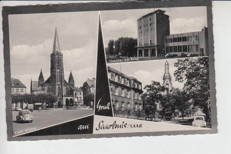 6630 SAARLOUIS, Mehrbildkarte1963
