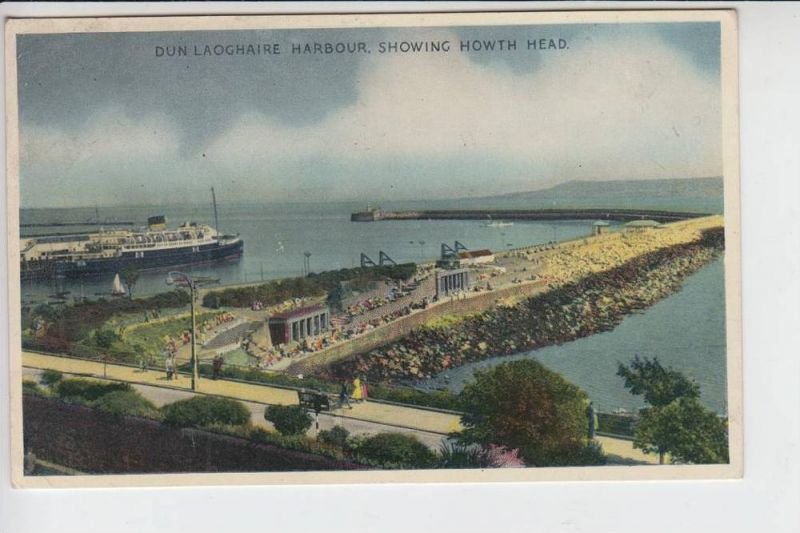 IRL - DUN LAOGHAIRE, Harbour showing Howth Head, 1957 - stamp missing