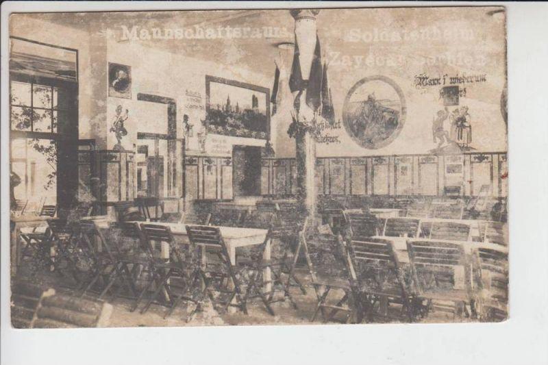 SRB - ZAYECAR, 1.Weltkrieg, Mannschaftsraum Soldatenheim Sayecar Serbien 1918