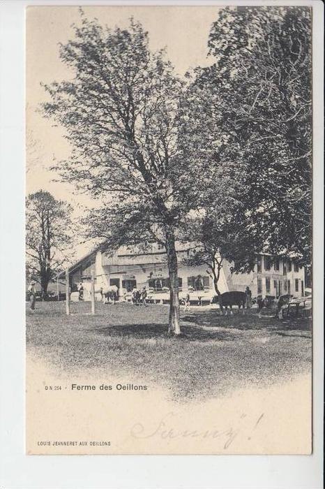 CH 2103 NOIRAIGUE, Ferme des Oeillons, 1902