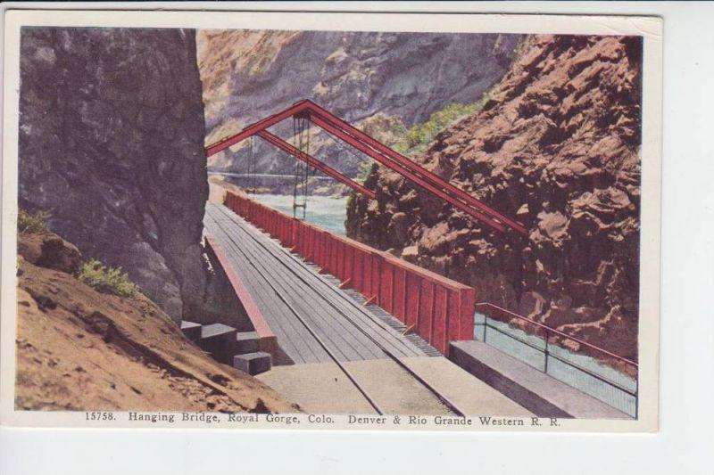 USA - COLORADO - Hanging Bridge Royal George, Denver & Rio Grande Western R.R. - Eisenbahn