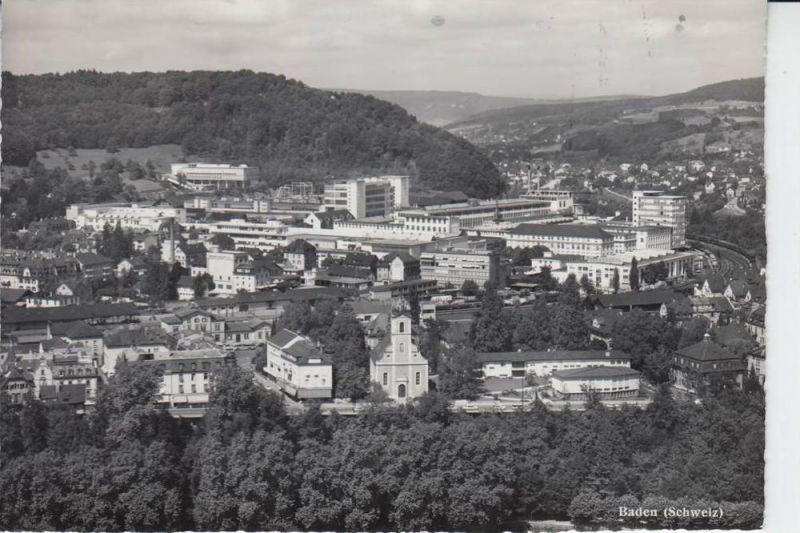 CH 5400 BADEN, Ortsansicht  1960