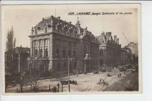 CH 1000 LAUSANNE VD, Kantonalbank und Hauptpost, 1928
