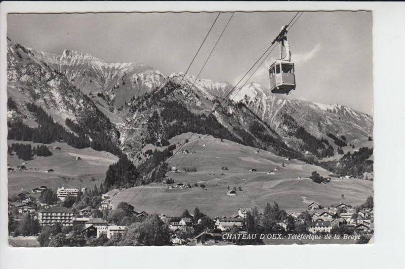 CH 1660 CHATEAU D'OEX, Teleferique de la Bruye, Bergbahn 1961