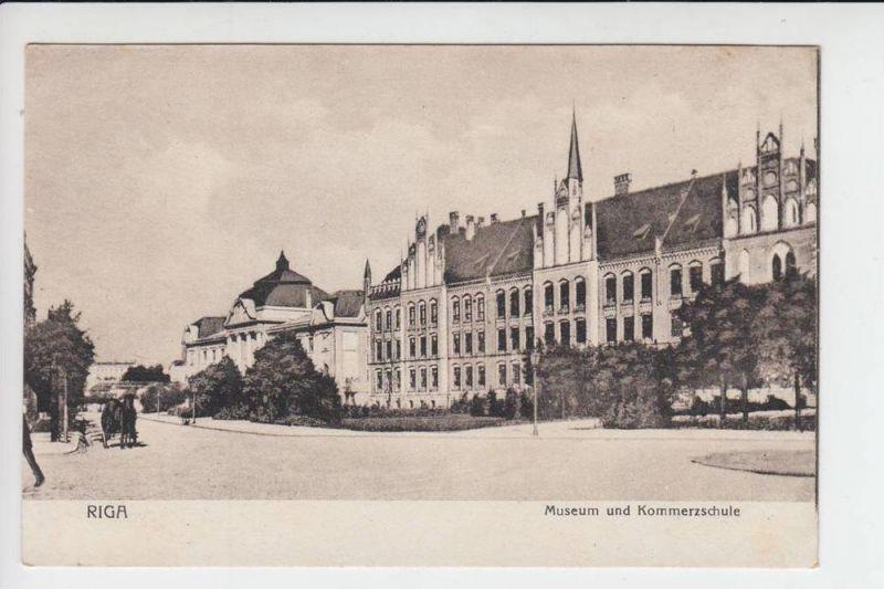 LV - Lettland, RIGA, Museum & Kommerzschule