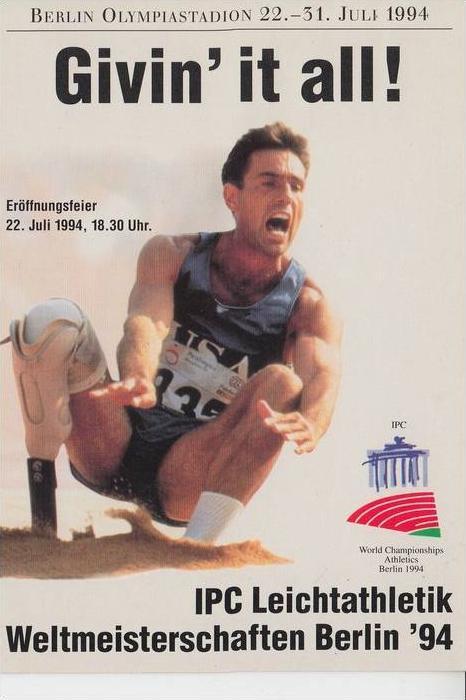 SPORT - LEICHTATHLETIK - WELTMEISTERSCHAFTEN für Behinderte, 1994 Berlin