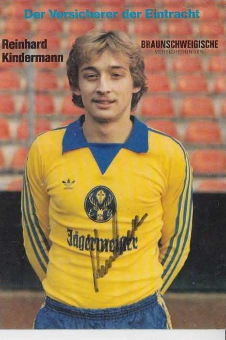 SPORT - FUSSBALL - EINTRACHT BRAUNSCHWEIG - REINHARD KINDERMANN - Autogramm