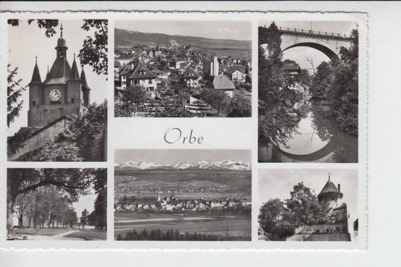 CH 1350 ORBE, Mehrbildkarte 1956