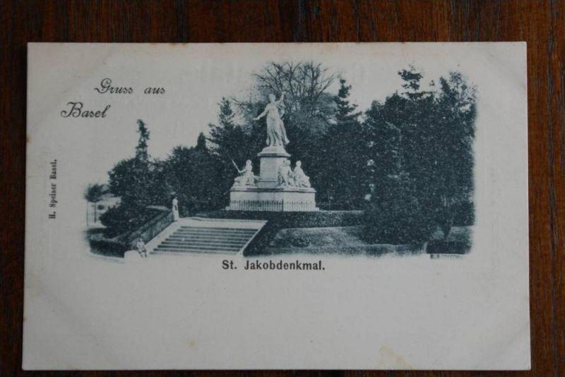 CH 4000 BASEL St. Jakobdenkmal, minimale Stockflecken