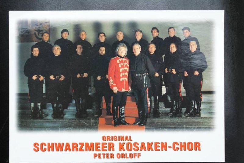 MUSIK - Don Kosaken Original Schwarzmeer, Peter Orloff, Vorläufer war Boris Ledkowsky & Nikolai Orloff, Autograph rück