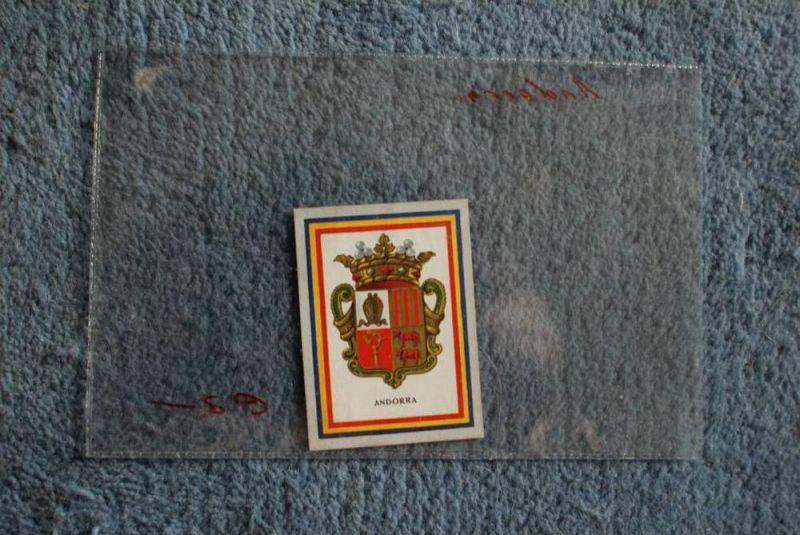 ANDORRA - WAPPEN - Heraldik, Vignette - Sammelbild