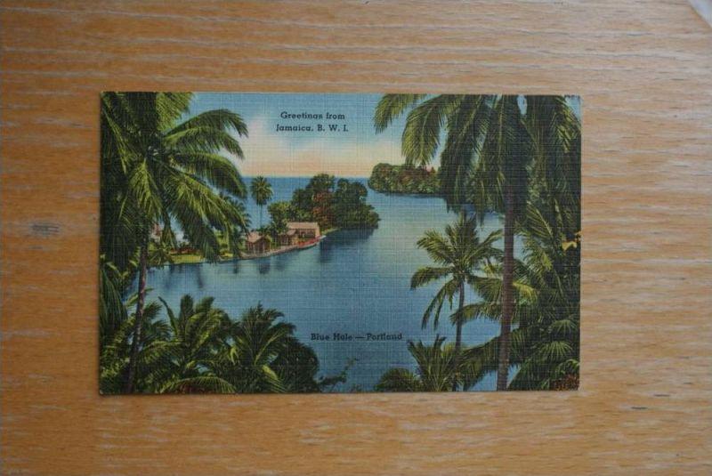JA JAMAICA, B.W.I. Blue Hole, Portland