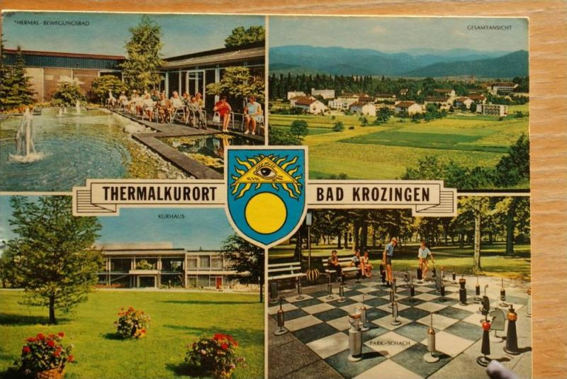 SPORT - SCHACH, Freiluftschach, open air chess, Bad Krozingen, 1975