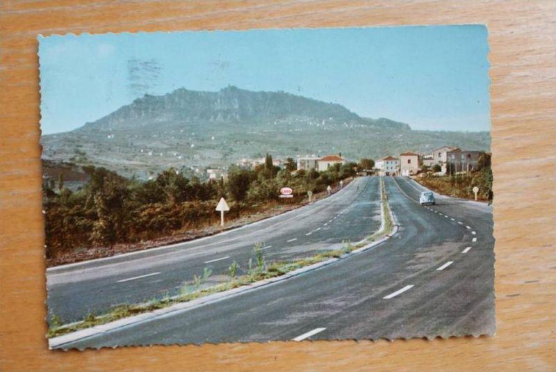 RSM - SAN MARINO, Monte Titano vista  dell'autostrada
