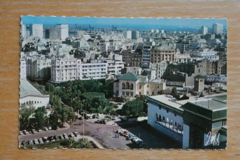 MA - Marokko, Maroc, CASABLANCA, Palais de justice & Vue generale