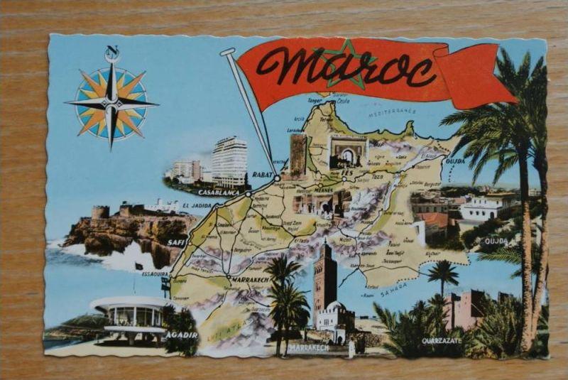 MA - Marokko, Maroc, Landkarte - Map