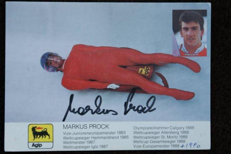 SPORT - Wintersport- Schlitten, Autogrammkarte Markus Prock