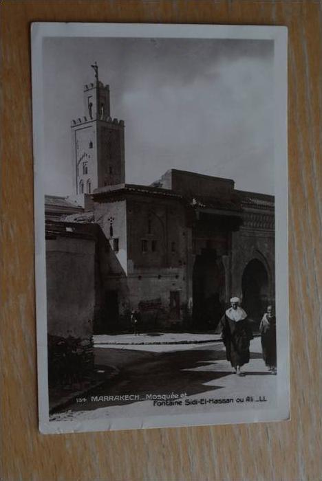MA - Marokko, Maroc, MARRAKECH - Mosquee et Fontaine Sidi El-Hassan ou Ali