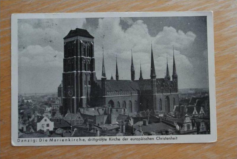 DANZIG, MAXIMUMKARTE Marienkirche